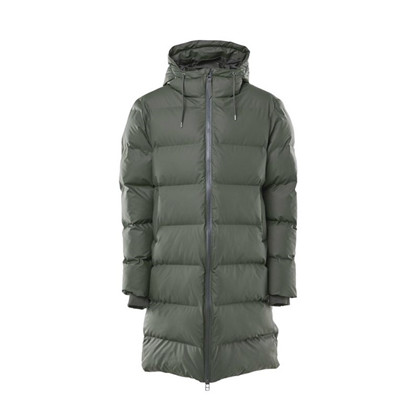 Rains Army Long Puffer Jacket