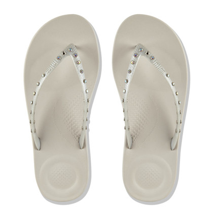 FitFlop Stone Silver Iqushion Tå Sandal