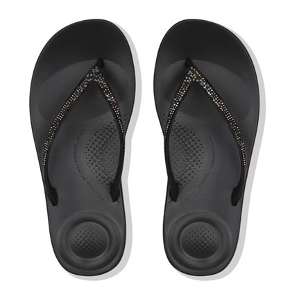 FitFlop Sparkle  Black Iqushion Tå Sandal