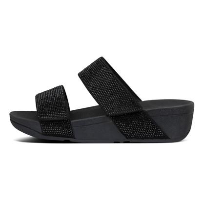 FitFlop Mina Crystal Slides Black