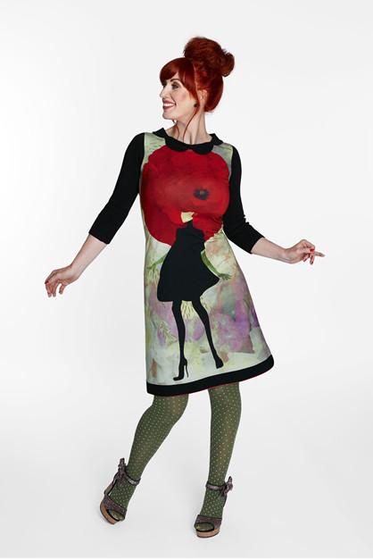 Margot Poppy Public Kjole