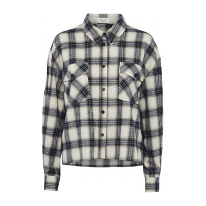 Norr Nyla Shirt Navy Check