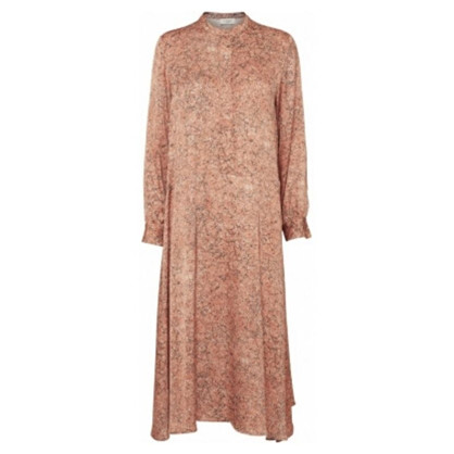 Norr Lennon Dress Peach Print