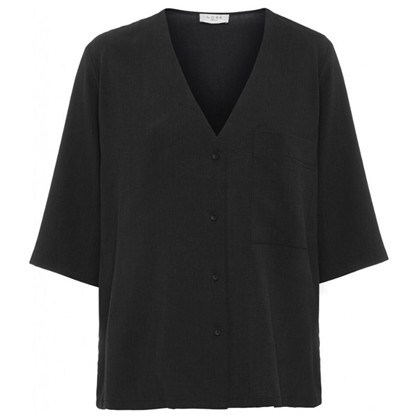 Norr Emery Shirt Black