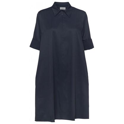 Norr Mimi Zip Dress Dark Navy