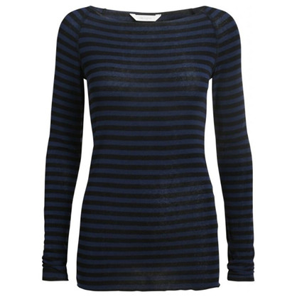 Gai+Lisva Amalie Stripe Dress Blue