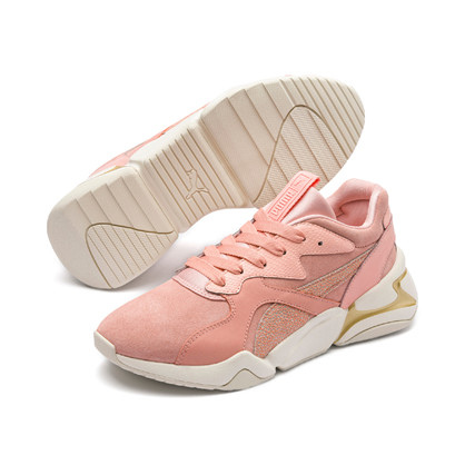 Puma Nova Pastel Grunge Peach Sneakers