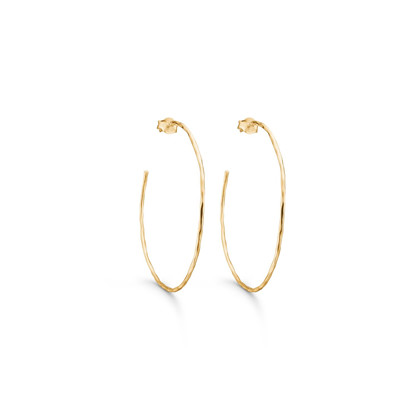 Enamel Hoops Simple Gold