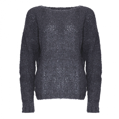 Noella Dark Grey Kala Knit Sweater