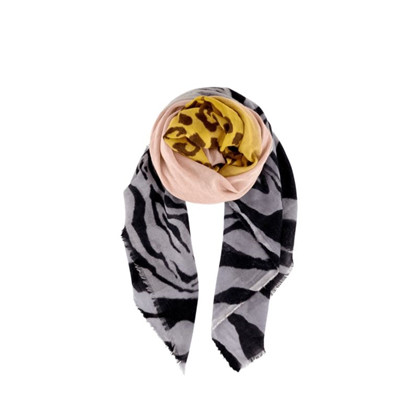 Black Colour Goldporto Uldtørklæde