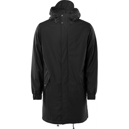 Rains Long Quilted Parka Black