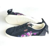 Puma Black Suede Bow Flowery Sneakers