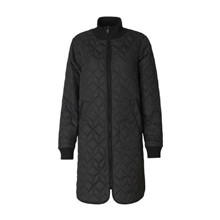 Ilse Jacobsen Sort  Padded Quilt Coat