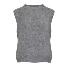 Noella Light Grey Melange Kala Vest