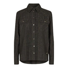 Mos Mosh Billy Boucle Shirt Chocolate Chip