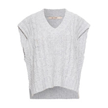 Rue De Femme Grey Spacy Knit Vest