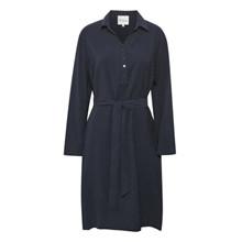My Essential Wardrobe Navy Louisa Skjorte Kjole