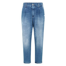 Please Blu Denim Pleated Jeans