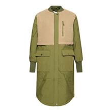 Noella Beige/Army Etta Pile Coat