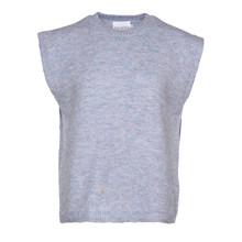 Noella Frenchie Knit Vest Blue Melange