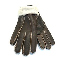 Furst Mørke Brun Rulams Handske