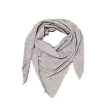 Rosas Grey Melange Scarf Triangel