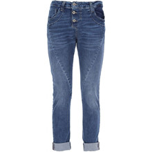 Please London Blu Denim Tre Knaps Jeans