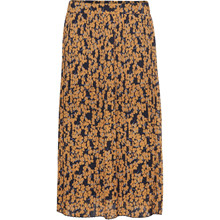 Norr Navy/Orange Flower Karina Skirt