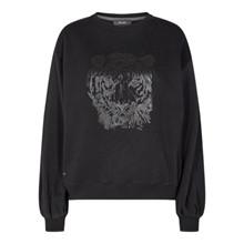 Mos Mosh Black Zanna Tiger Sweatshirt