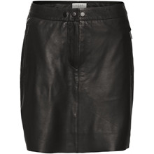Norr Naja Sort Leather Skirt