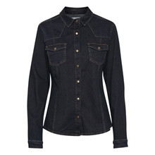 Denim Hunter Blake Shirt Dark Blue Un-Washed