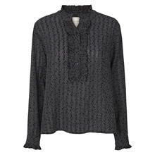 Lollys Laundry Navy Franka Dot Shirt