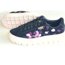 Puma SortTrace Flowery Suede Platform  Sneakers