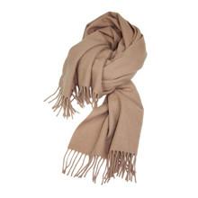 Mathlau Camel Lambswool Tørklæde