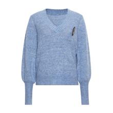 Heartmade Blue Melange Kari Knit