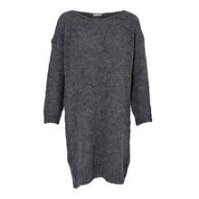 Noella Dark Grey Melange Kala Knit Dress