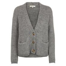 Basic Apparel Grey Melange Leona Cardigan