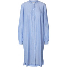 Lollys Laundry Basic Shirt Dress Dusty Blue