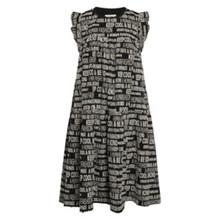Mads Nørgaard Graphic Cotton Damilla Black Dress