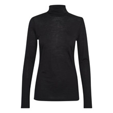 My Essential Wardrobe Black The Rollneck