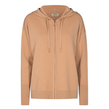 Mos Mosh Robyn Hooded Knit Cardigan Cuban Sand
