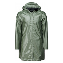 Rains Shiney Olive A-Line Jacket