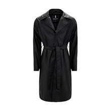 Rains Black Overcoat