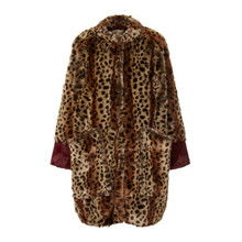 Lollys Laundry Leopard Fake Fur Elisa Jacket