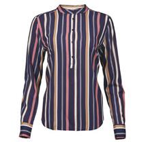 Rue de Femme Navy Strib Dot Shirt