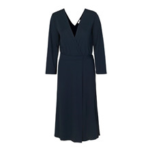 Blanche Navy Gather Dress