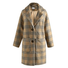 Noella Sana Coat Wool Cream Camel/Grey Checks