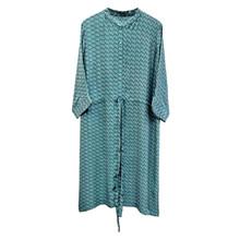 Peace Heart Joy Botanical Jade Dress w. Buttons