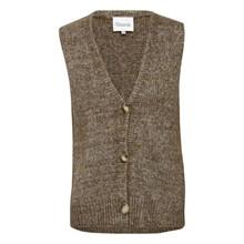 My Essential Wardrobe Argan Oil Melange Fay Knit Vest