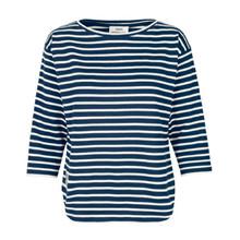 Mads Nørgaard Blå Organic Thilke Bluse